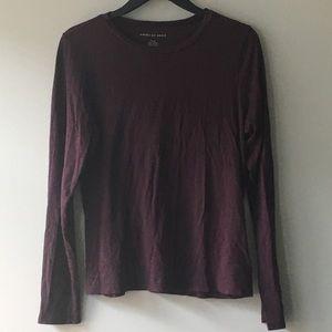 American Eagle Deep Dark Purple Long Sleeve Top
